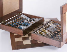 1863 Battle of Gettysburg Civil War Chess Set with Boxes