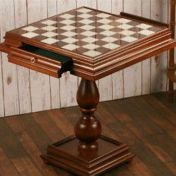 """The 23.5"""" Alabaster Chess Table"""