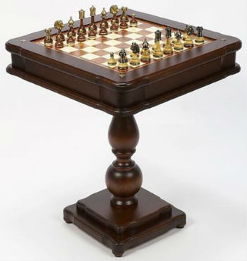 "23"" Ultimate Italian Game Table With Chess Pieces"