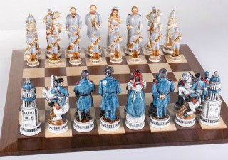 1863 Battle of Gettysburg Civil War Chess Set