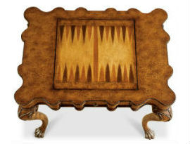 Butler Heritage Collection Wood Game Table - Backgammon Surface