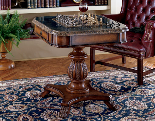 Butler Heritage Collection Wood Pedestal Game Table