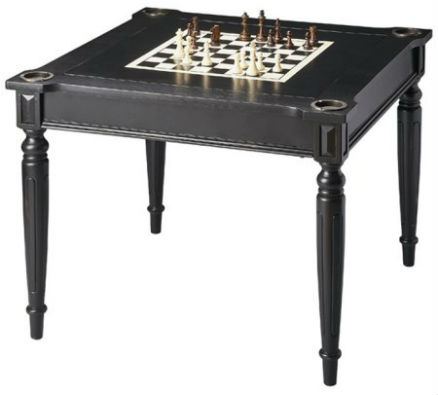 Butler Masterpiece Collection Wood Multi-Game Card Table with Black Licorice Finish