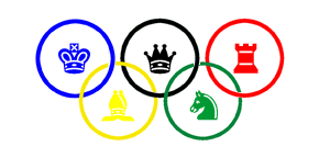 The Olympic Rings With Chess Pieces Symbols