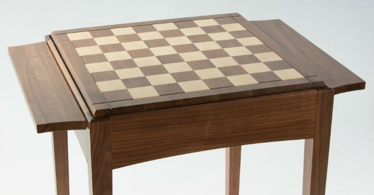 Chess Table Made Out of Walnut