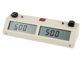 White Chronos Digital Chess Clock - Buttons