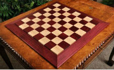Custom Contemporary Chess Board Purpleheart & Curly Maple