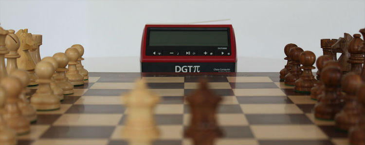 DGT PI Chess Clock & Computer With A Chess Set