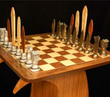 The Dave Reynolds Surf Chess Set With Wave Table