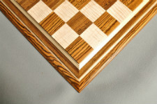 Signature Contemporary IV Luxury Chess board - BOCOTE / CURLY MAPLE