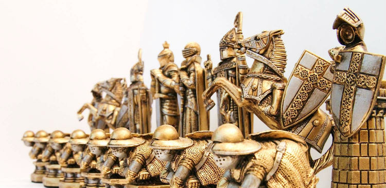 Harry Potter Chess Pieces Gold Color