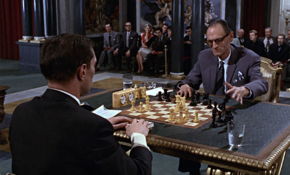 "The chess scene in the movie ""From Russia With Love"""