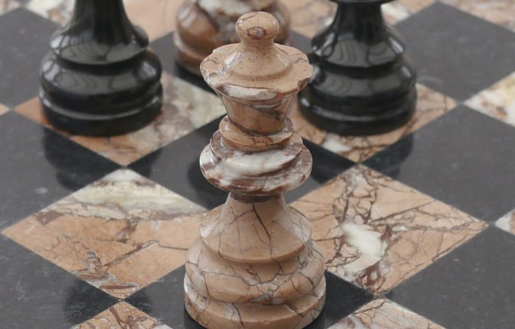 A Chess Set Made of Marble
