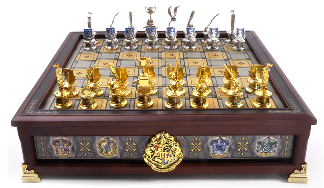 Hogwarts House Quidditch Chess Set by Noble Collection