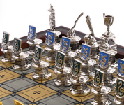 Quidditch Chess Set Pieces - Ravenclaw & Slytherin.