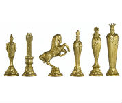 Large Metal Renaissance Chess Pieces