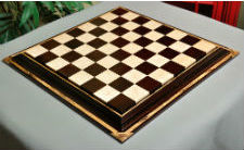 Signature Contemporary Chess Board African Palisander & Birds Eye Maple