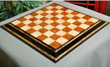 Signature Contemporary Chess Board Red Amboyna & Birds Eye Maple