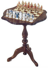 Sorrento Chess Table With Chess Pieces
