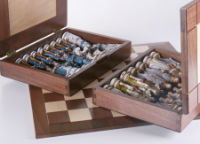 The Battle of Gettysburg Chess Pieces Inside Their Boxes