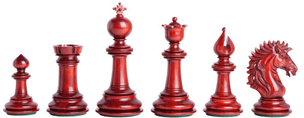 The Camelot Series Artisan Chess Pieces - Red Color