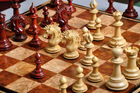 The Camelot Series Artisan Chess Pieces Set