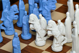 The Camelot Series Luxury Porcelain Chess Pieces