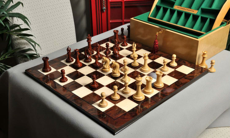 The Exotique Collection - Imperial Collector Chess Set, Box, & Board Combination
