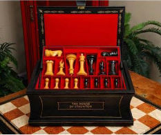 The Golden Collector Series Luxury Chess Set, Pieces Inside The Box