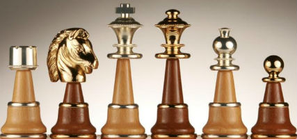 The Magnificent Chess Pieces - Solid Brass & Wood
