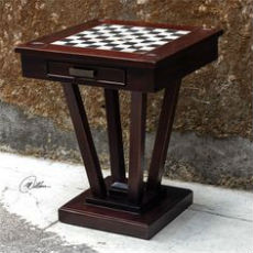 Uttermost Fineas Wood Chess and Checkers Table - Outdoor