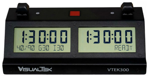VTEK 300 electronic Chess Clock - Black