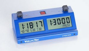 VTEK 300 Digital Chess Clock - Blue