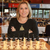 Susan Polgar & Chess Set