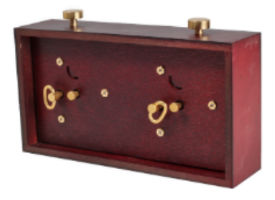 Red Wooden BHB Chess Clock Back Side