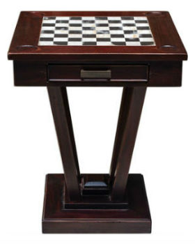 Uttermost Fineas Wood Chess and Checkers Table