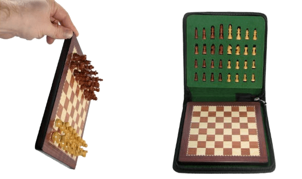 """12"""" Magnetic Chess Set in Rosewood"""