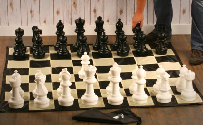 """The 12"""" ChessHouse Large Outdoor Chess Set"""