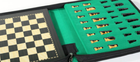 12″ Magnetic Travel Chess Set in Rosewood