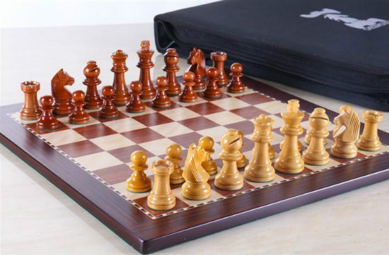 12″ Travel Magnetic Chess Set in Rosewood