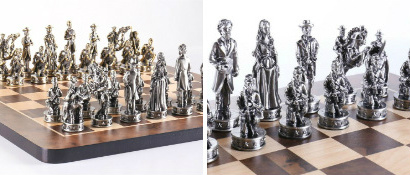 "The 16"" Civil War Theme Chess Set"