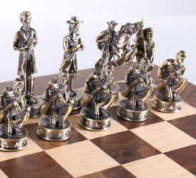 "16"" Civil War Theme Chess Set"