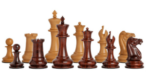 "The Original 1849 Staunton Series Luxury Chess Pieces - 4.4"" King - with Cocobolo"