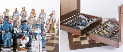 The 1863 Battle of Gettysburg Civil War Chess Set