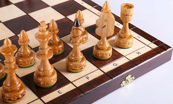 "18"" Indian Wooden Chess Set"