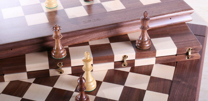 These 2 Folding Chess Boards Combine Functionaity Beauty