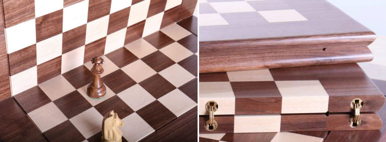 "The 21"" Folding Hardwood Player's Chessboard JLP, USA"