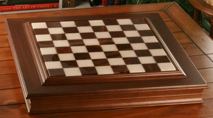 24″ Alabaster Cabinet Chess Storage Board