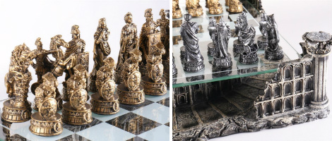 Roman Gladiators 3D Chess Set