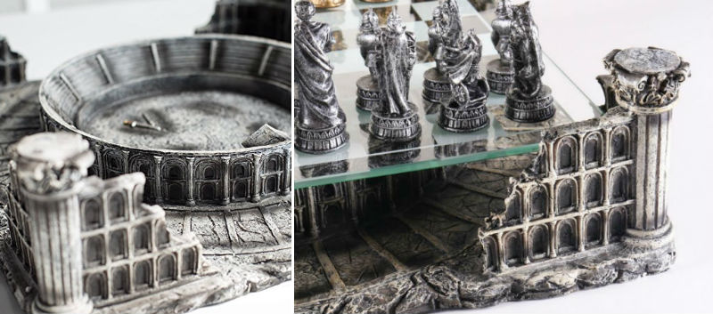 The Roman Gladiators 3D Chess Set